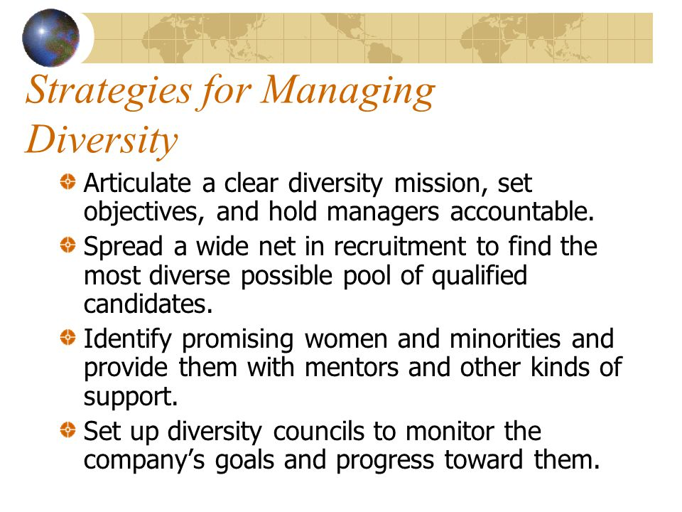 Strategies for Managing Diversity