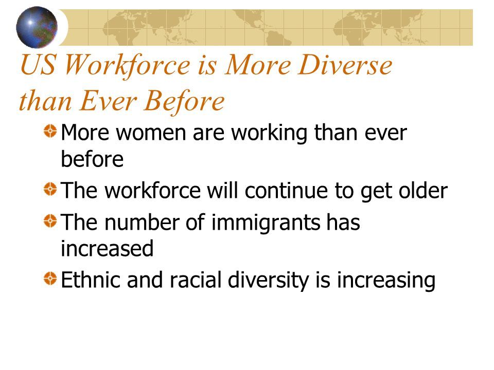 US Workforce is More Diverse than Ever Before