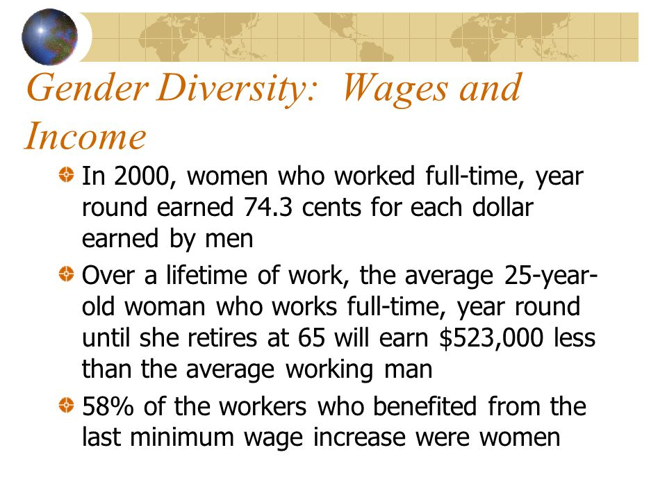 Gender Diversity: Wages and Income