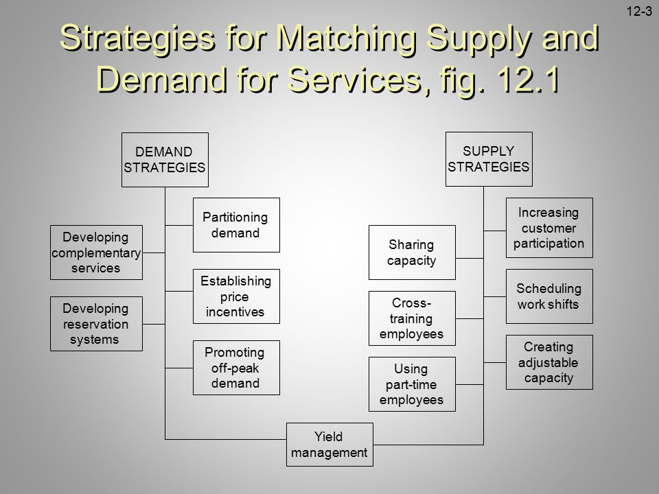 Strategies for Matching Supply and Demand for Services, fig. 12.1