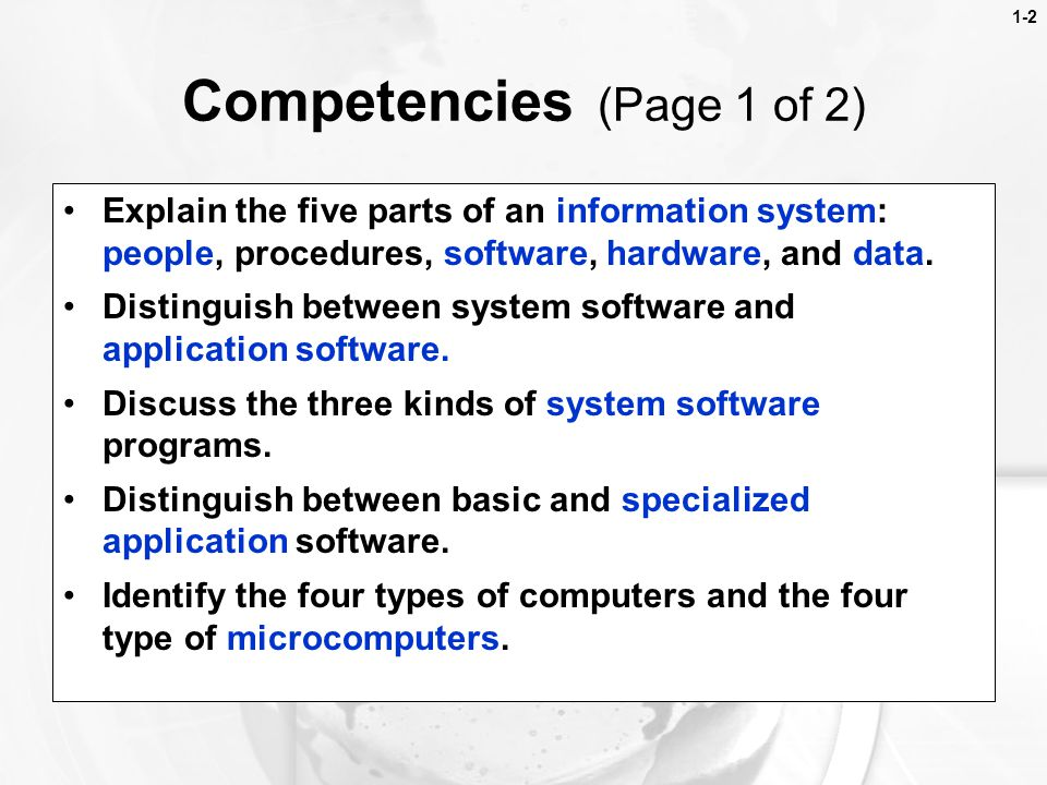 Competencies (Page 1 of 2)