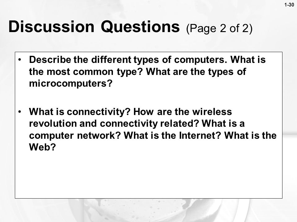 Discussion Questions (Page 2 of 2)