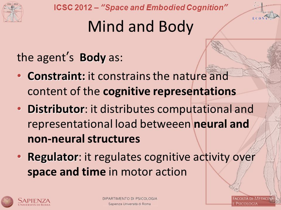 Mind and Body the agent's Body as: