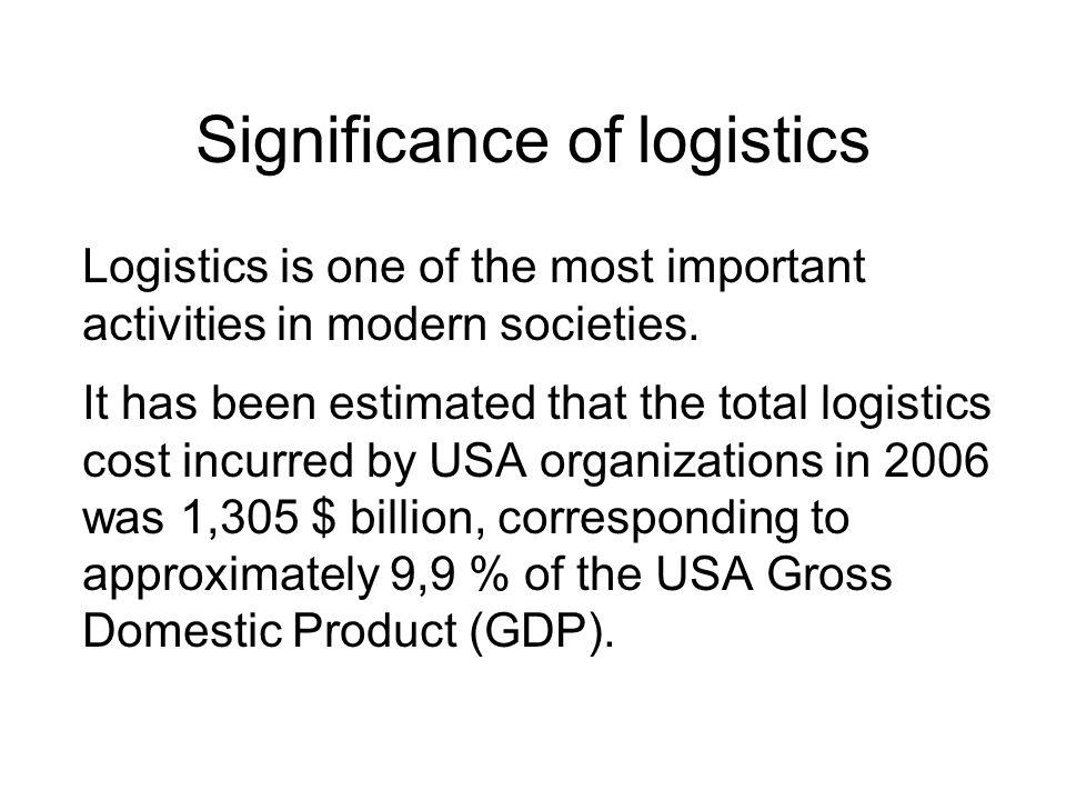 Significance of logistics