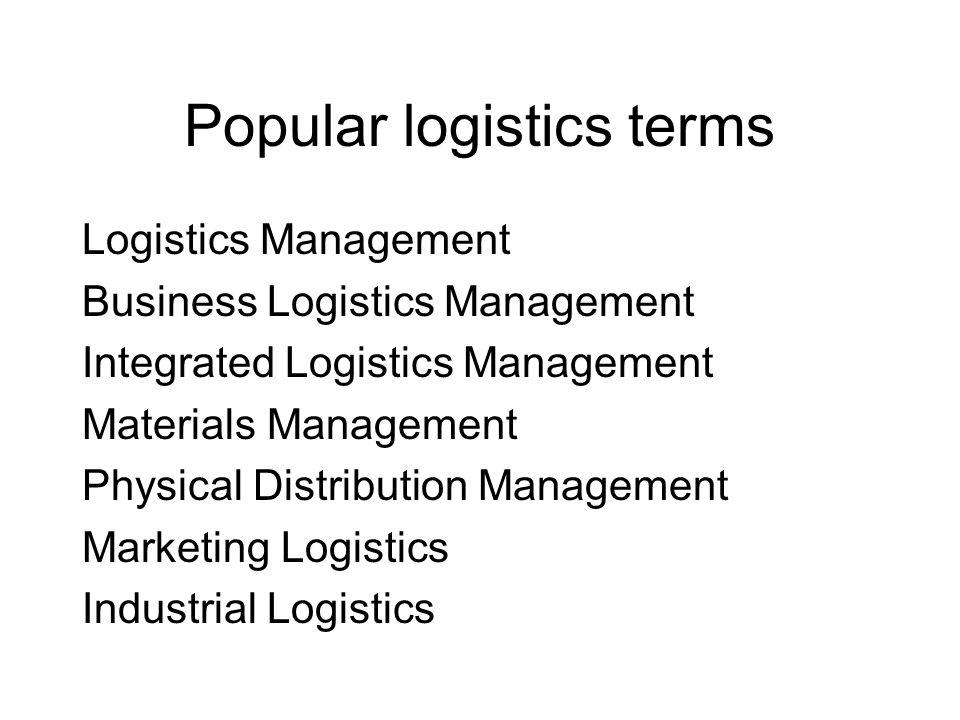 Popular logistics terms