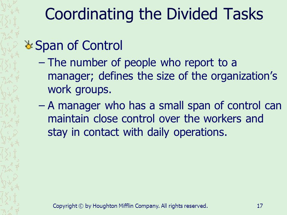 Coordinating the Divided Tasks