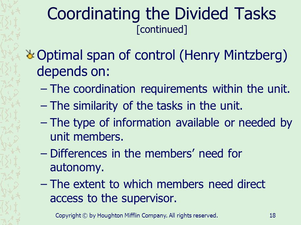 Coordinating the Divided Tasks [continued]