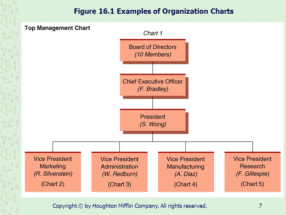 Figure 16.1 Examples of Organization Charts