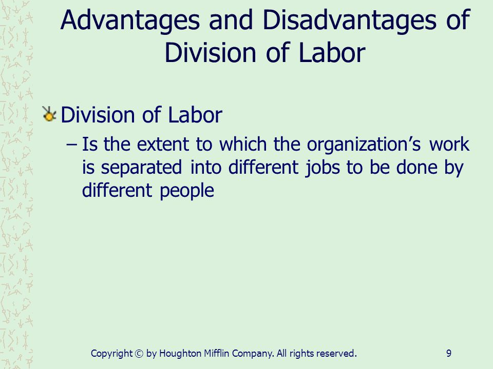 Advantages and Disadvantages of Division of Labor
