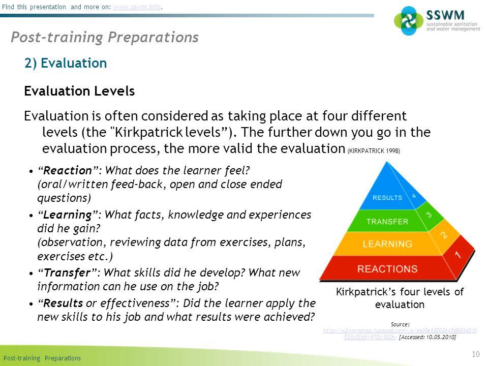 Kirkpatrick's four levels of evaluation