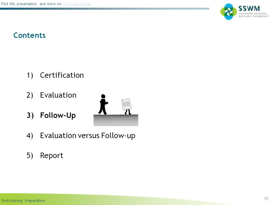 Evaluation versus Follow-up Report