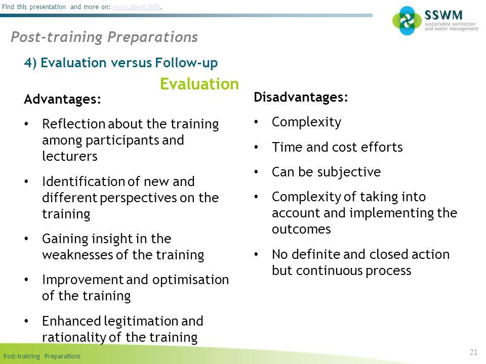4) Evaluation versus Follow-up
