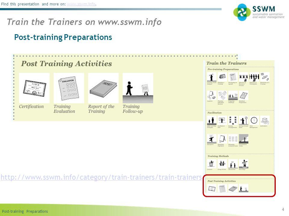 Train the Trainers on www.sswm.info