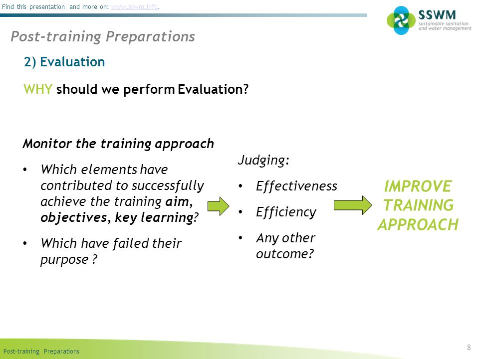 IMPROVE TRAINING APPROACH