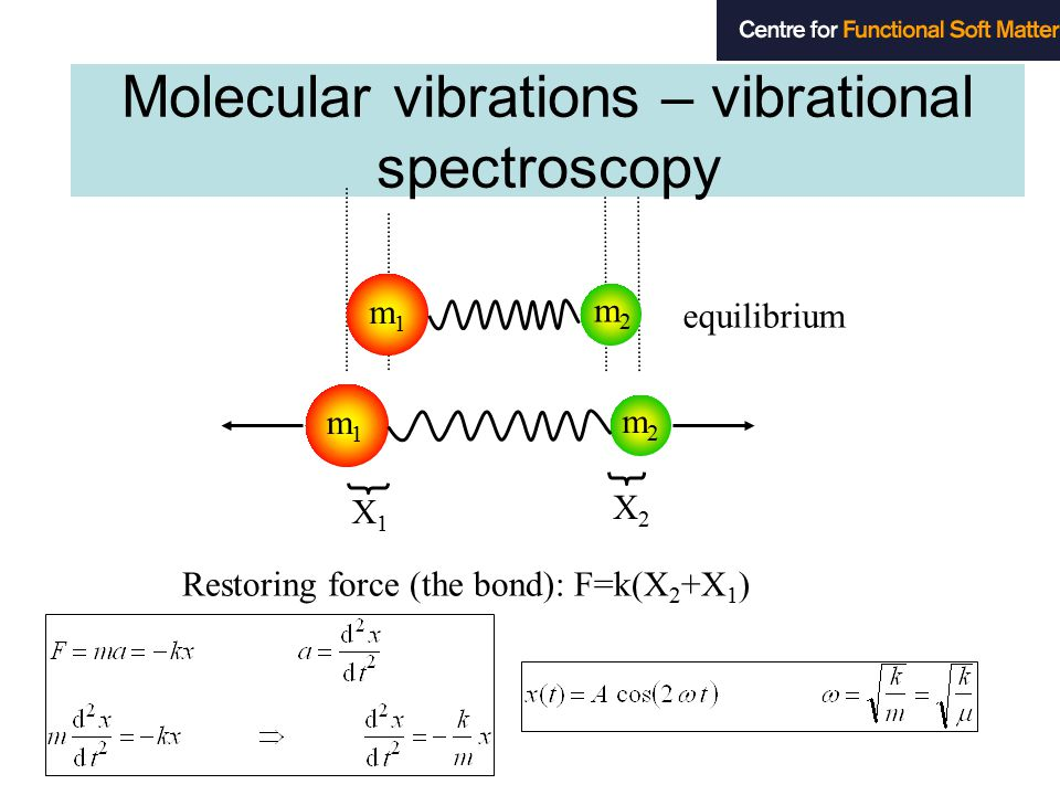 molecular vibration and bond length Molecular vibrations and ir spectroscopy vibrations vibration of a c-c bond for a c-c bond with a bond length of 154 pm, the variation is about 10 pm molecular spectroscopy tends to show bands molecular vibrations are influenced by the.