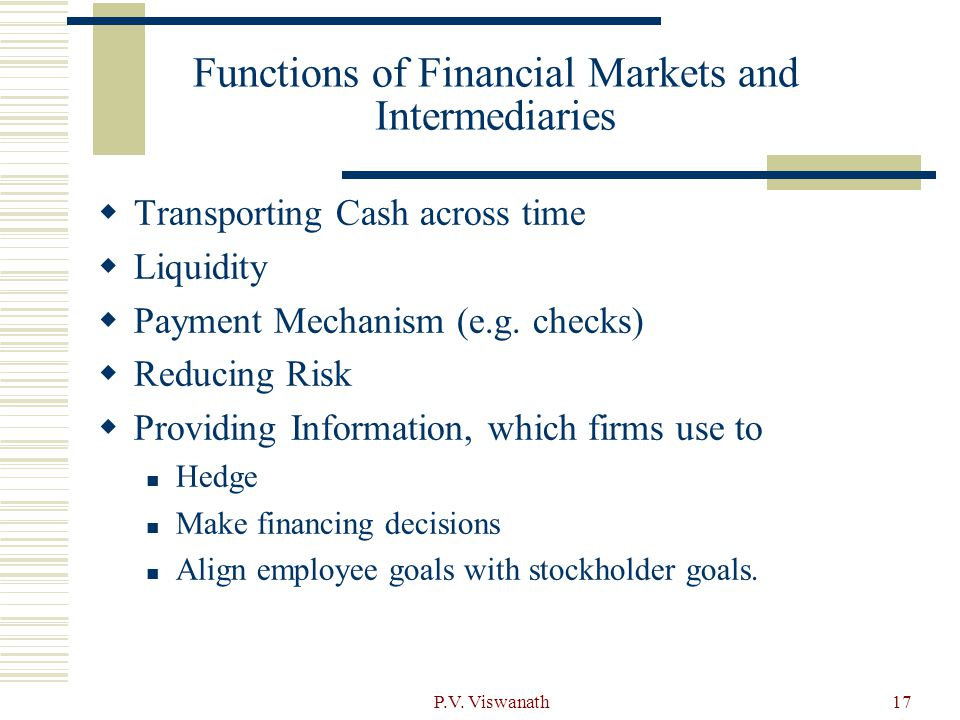 Functions of Financial Markets and Intermediaries