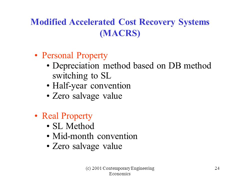 Acrs Depreciation For Residential Rental Property