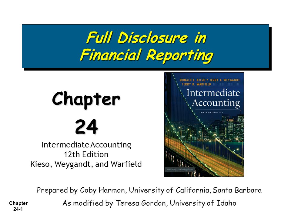 Full Disclosure in Financial Reporting