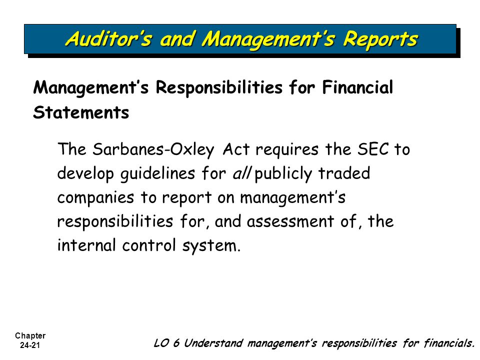 Auditor's and Management's Reports