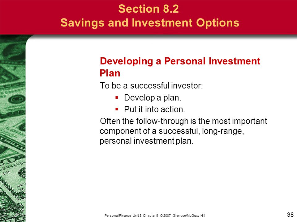 Pensions, savings and investments