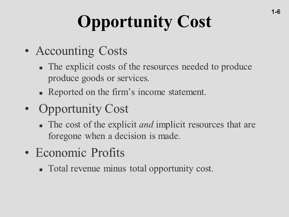 Opportunity cost and online dating