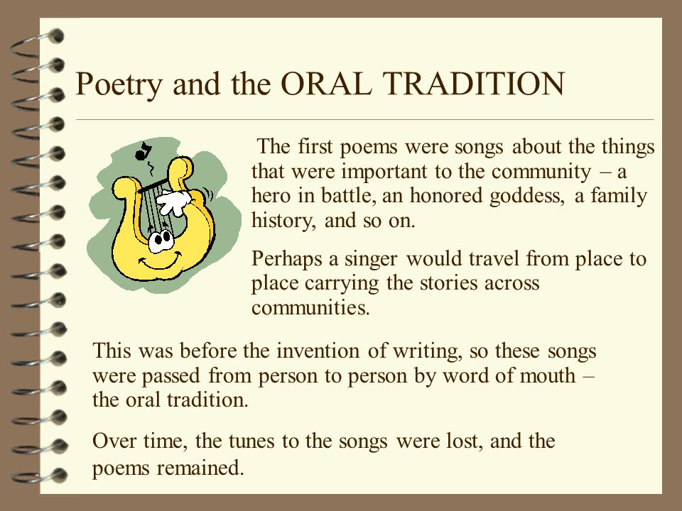 Importance of oral tradition
