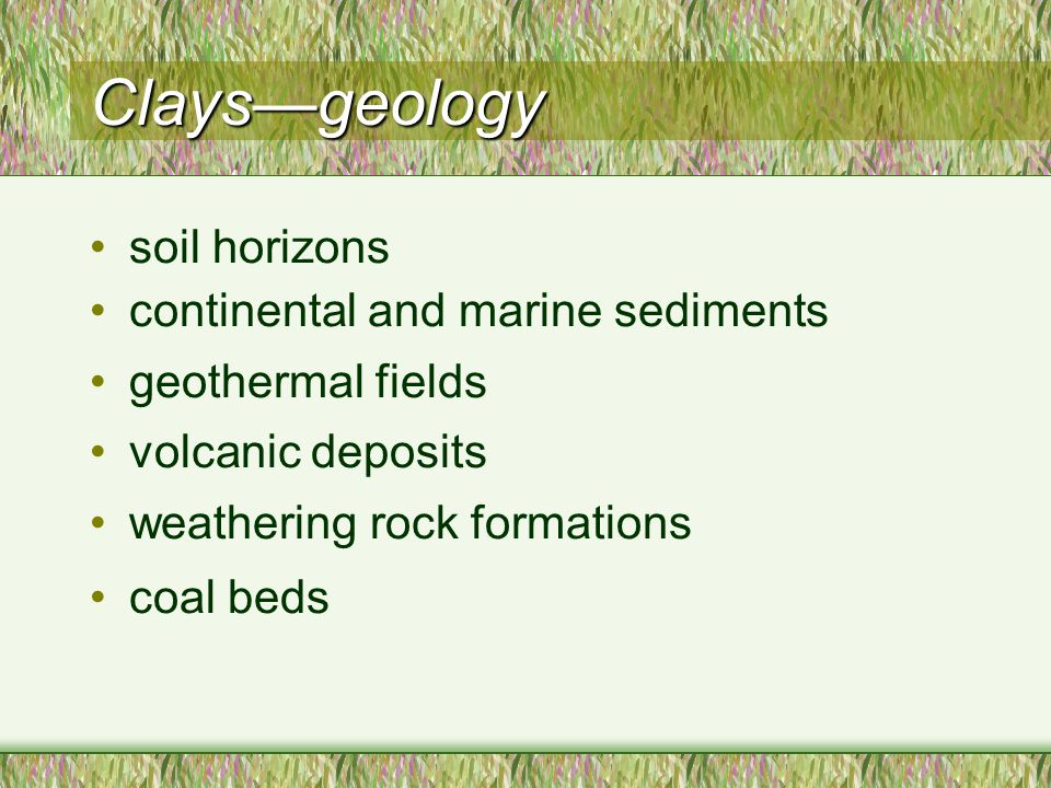 Me551 geo551 geology of industrial minerals spring ppt for Soil and geology