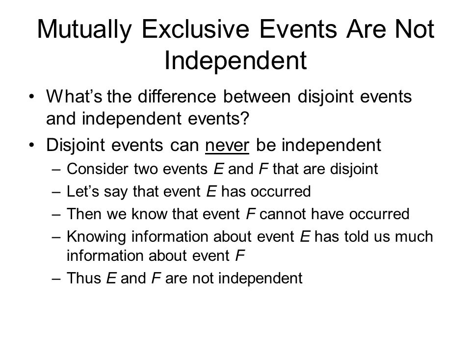 difference between independent and mutually exclusive project Answer to what is the difference between independent projects and mutually exclusive projects  how would this affect your capital.