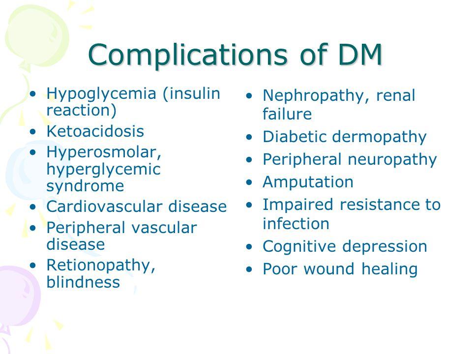Complications of diabetic ketoacidosis - Homework Sample