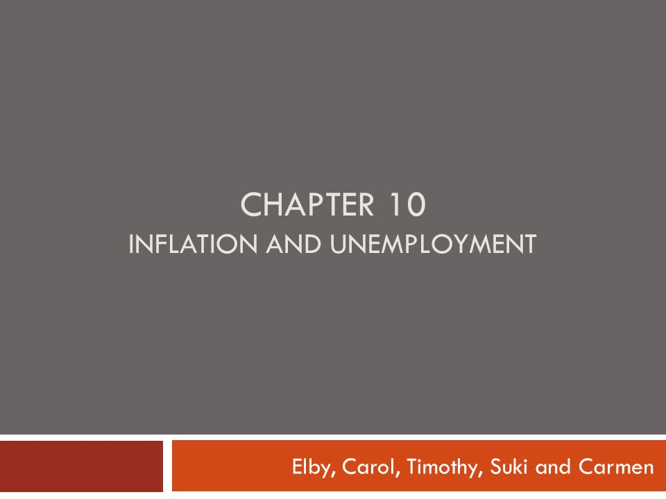 Chapter 10 Inflation and Unemployment