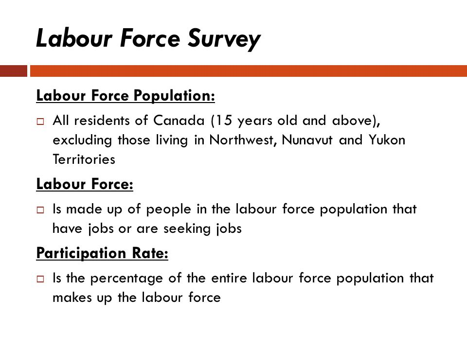 Labour Force Survey Labour Force Population: Labour Force: