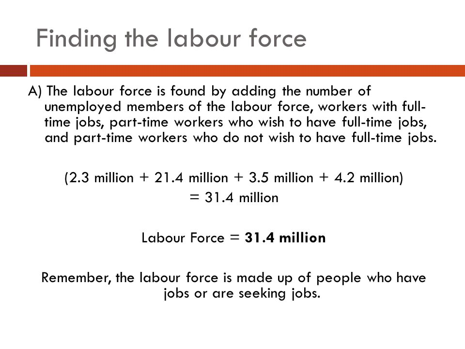 Finding the labour force