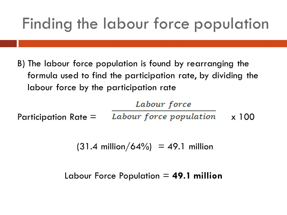 Finding the labour force population