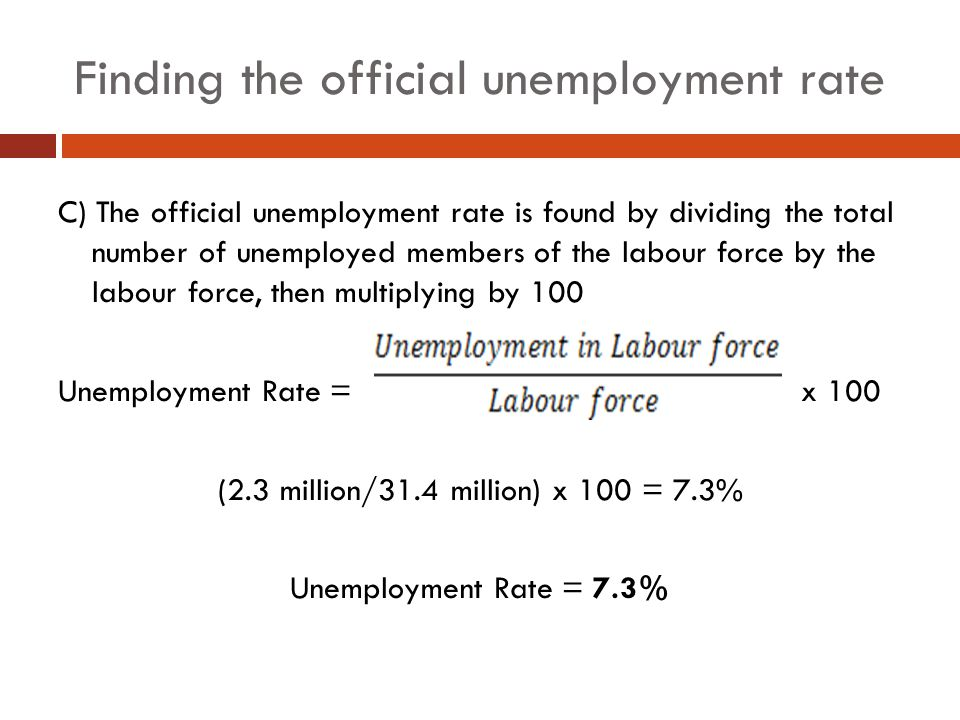 Finding the official unemployment rate