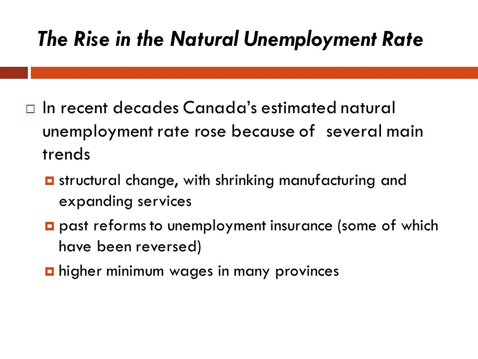 The Rise in the Natural Unemployment Rate