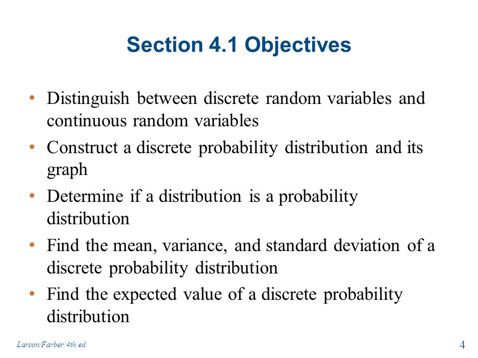 Discrete probability distributions ppt download probability distributions 4 section ccuart Images