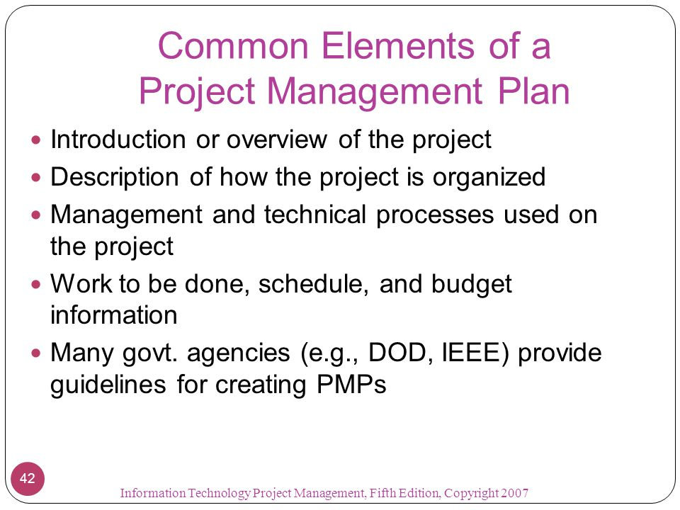 elements of project management The elements of project management, a brief and light hearted view of what will happen in a design project when you are in charge of project management.