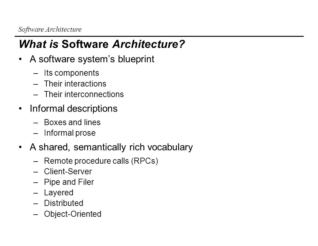 Software architecture an introduction ppt download what is software architecture malvernweather Choice Image