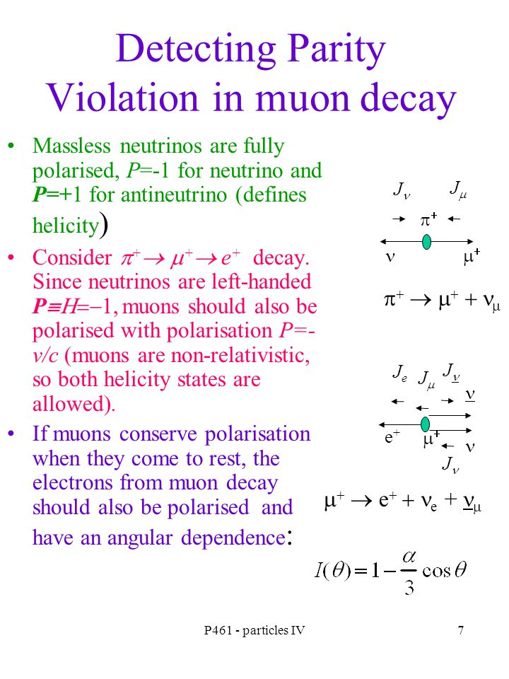 Detecting Parity Violation in muon decay