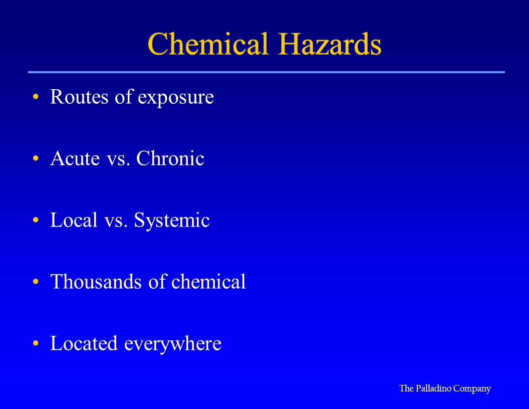 Free Chemical Hazards Essay Sample