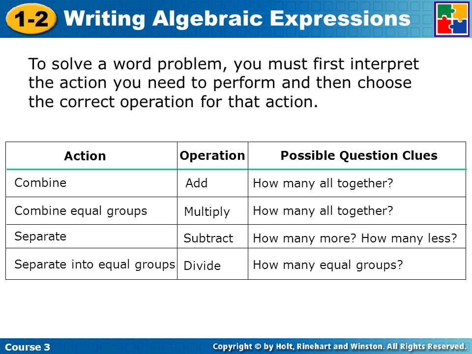 writing expressions We now need to look at rational expressions a rational expression is nothing more than a fraction in which the numerator and/or the denominator are polynomials.