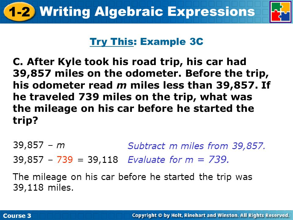 how to write an algebraic expression This section explains how to add and subtract algebra expressions, with several examples.