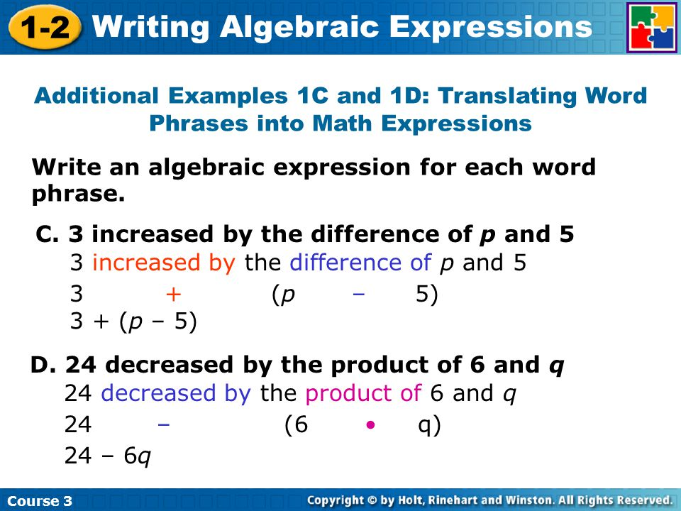 writing algebraic expressions games You will learn to write the algebraic expressions in these pre algebra worksheets answers and be found on the second page of the worksheet.