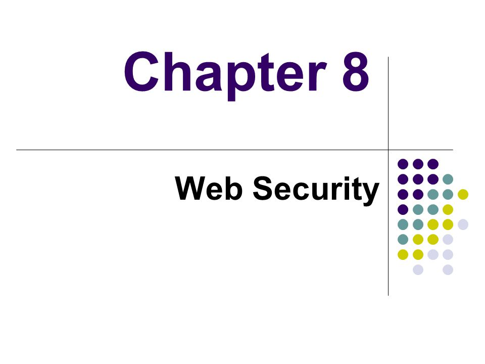 Chapter 8 Web Security