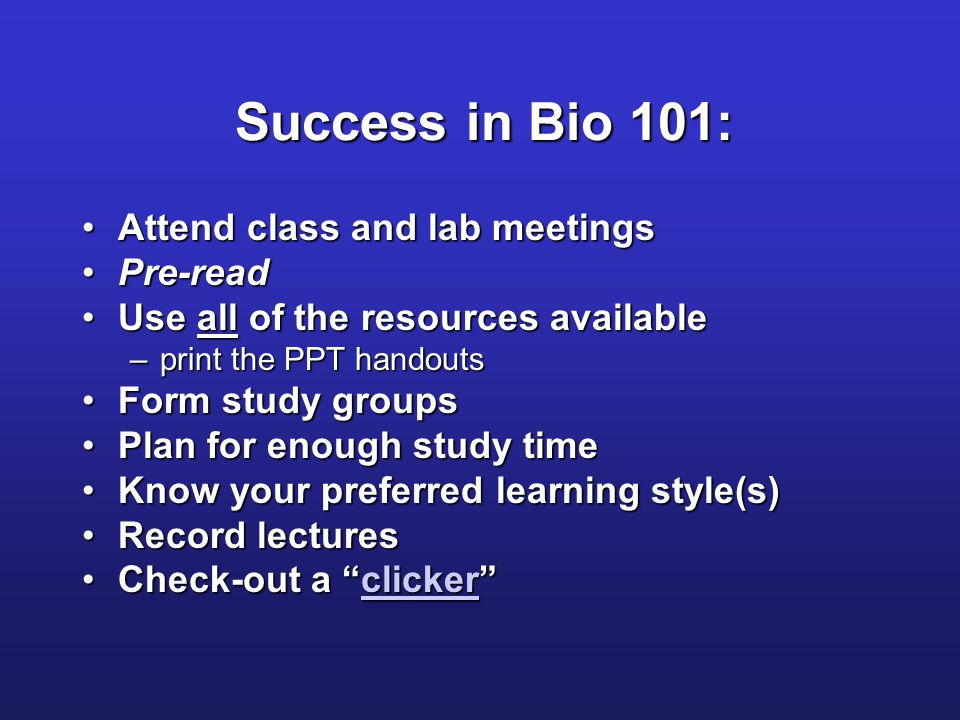 bio 101 powerpoint presentations Use slides to edit powerpoint files free from google google editors  portfolios and other pre-made presentations — all designed to make your work.