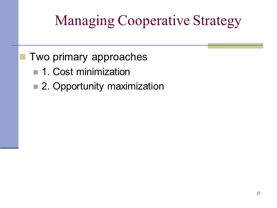 Business Level Cooperative Strategies