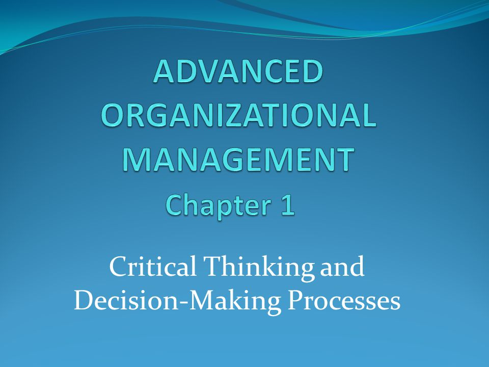 critical thinking and sexual decision 18 examples of using critical thinking in business investing in the training of critical thinking using insight development program and insight businesss assessments is a strategic decision.
