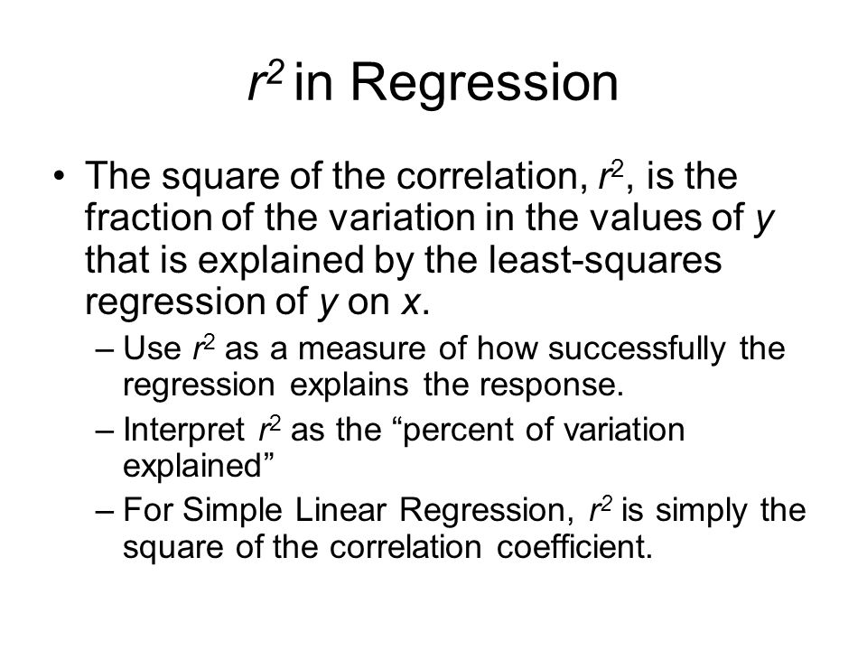 r2 in Regression