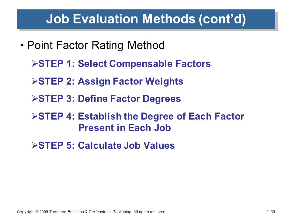 Different Approaches to Job Evaluation