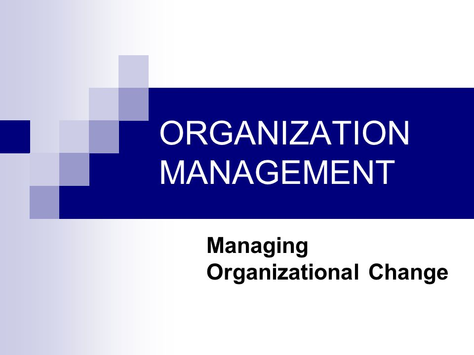 management in organzation